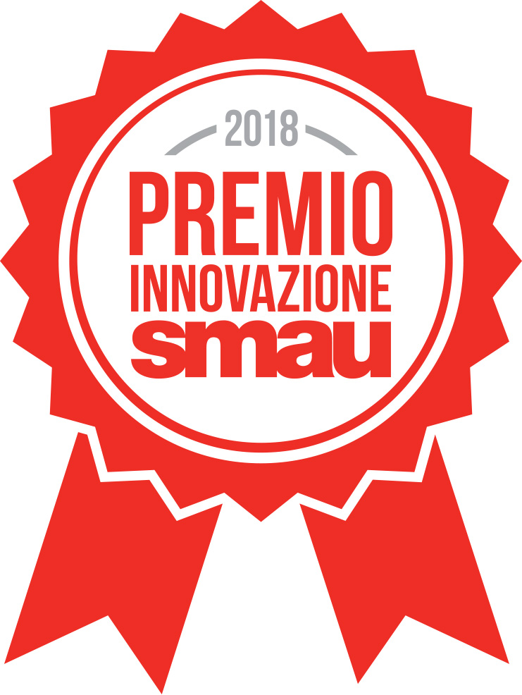 Coccarda premio SMAU 2018 Bedeschi - REGIVERSE - AIRLAPP - Settore Azienda di ingegneria e produzione di impianti meccanici