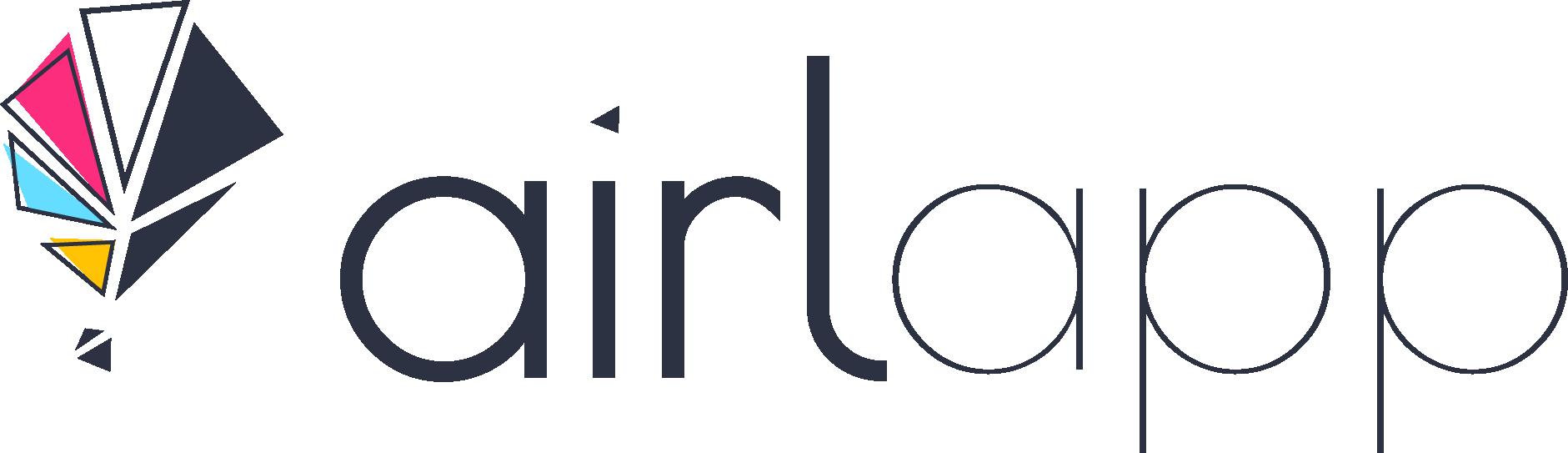 Airlapp AR VR Web App Develpment Logo Nero