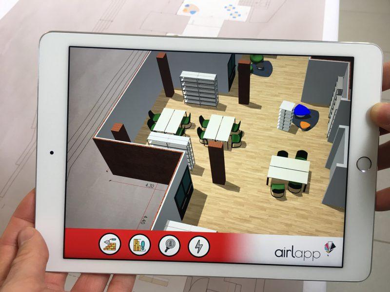 Immagine App Realtà Aumentata AR Extrude nella quale si visualizza il dettaglio di una parte di progetto