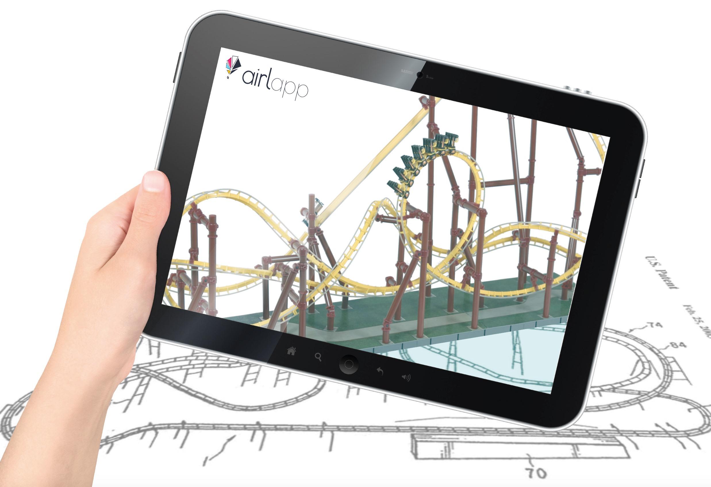 Immagine modalità realtà aumentata presente nell'App come feature personalizzata