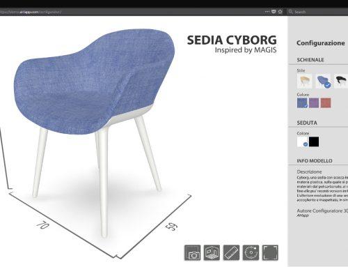 Configuratore web 3D di prodotto