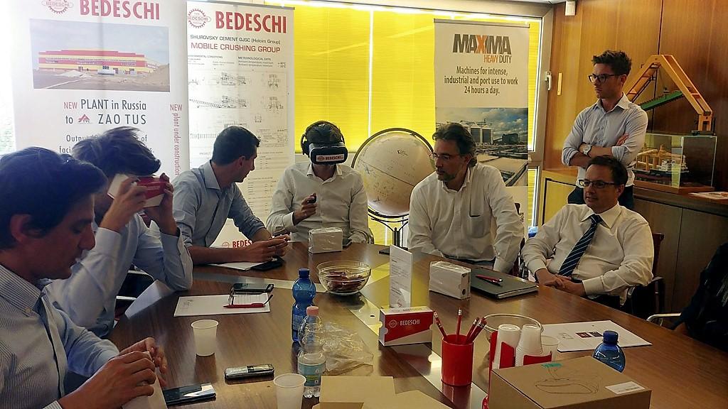 Formazione in sede Bedeschi sull'utilizzo della piattaforma VR Regiverse in fiera