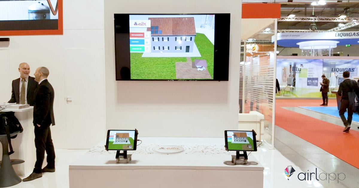 Stand di Elbi SPA in fiera MCE 2018 con la realtà aumentata