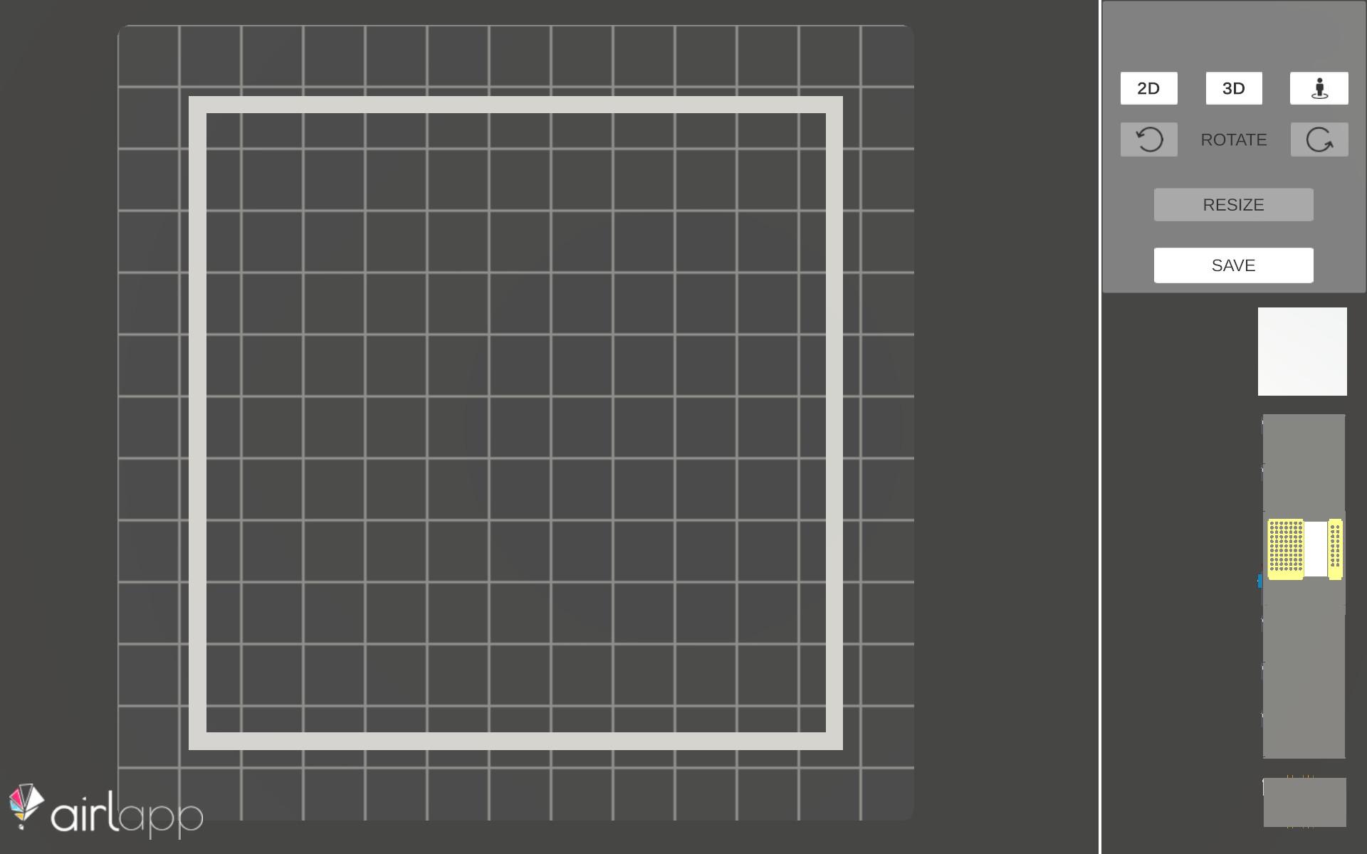 Schermata della pianificazione 2D del planner 3D demo