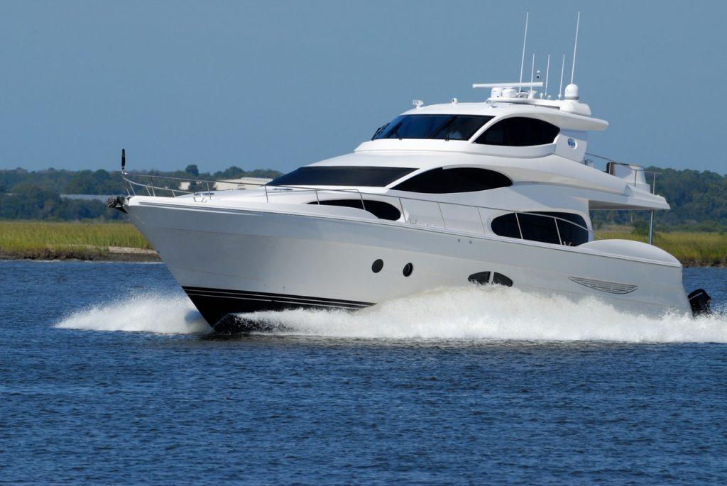 Foto di uno yacht