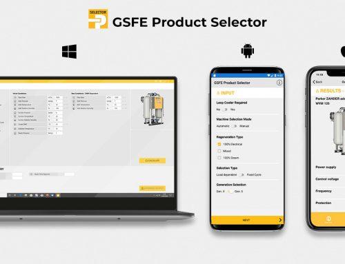 GSFE Product Selector – software selezione prodotti Parker trattamento aria compressa