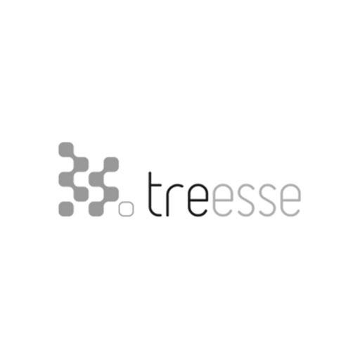 Treesse logo grayscale