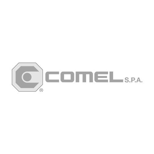 Comel Spa logo grayscale